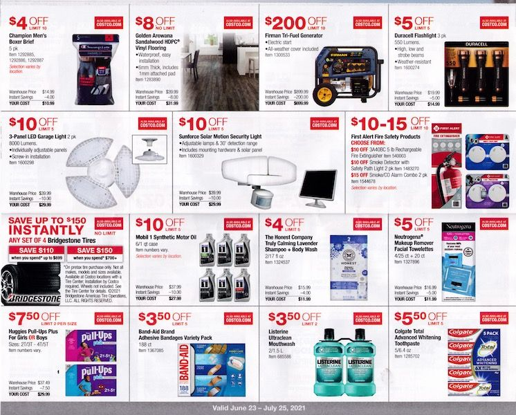 Costco ad with toothpaste and more