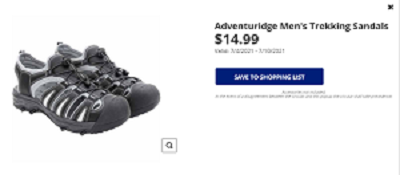 Men's Trekking Sandals with bungee cord pulls in black and gray